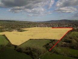 Proposed area to be developed for housing on Sun Lane, Burley in Wharfedale