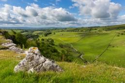 Landscape view over Malham Dale