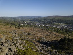 Aftermath of the fire on Ilkley Moor one year later