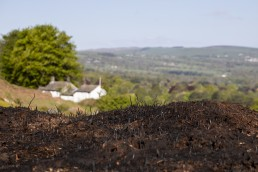 View of White Wells after fire