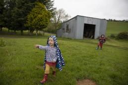 Kids exploring farm