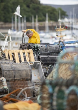 Fisherman Working at Conwy Harbour
