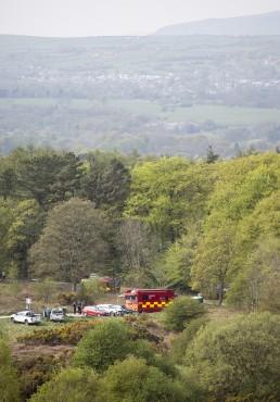Fire Brigade Command Centre on Ilkley Moor