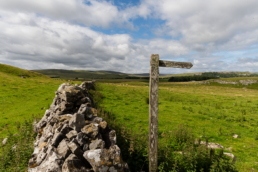 Malham Dale View towards Malham Tarn, Public Footpath Sign
